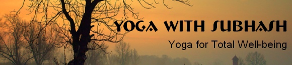 Yoga with Subhash newsletter banner