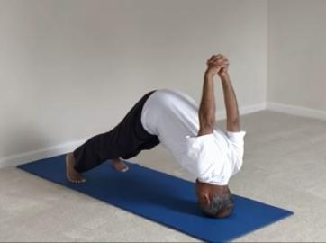 preparing for shirshasana headstand  yoga with subhash